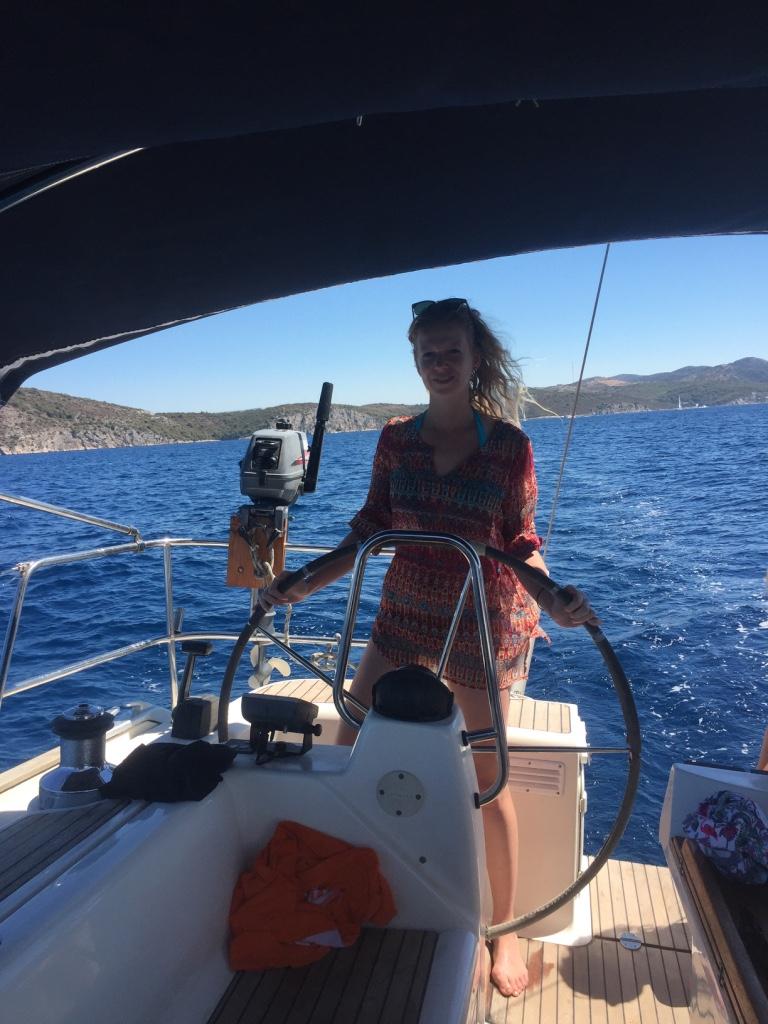 sailboat roer sturen