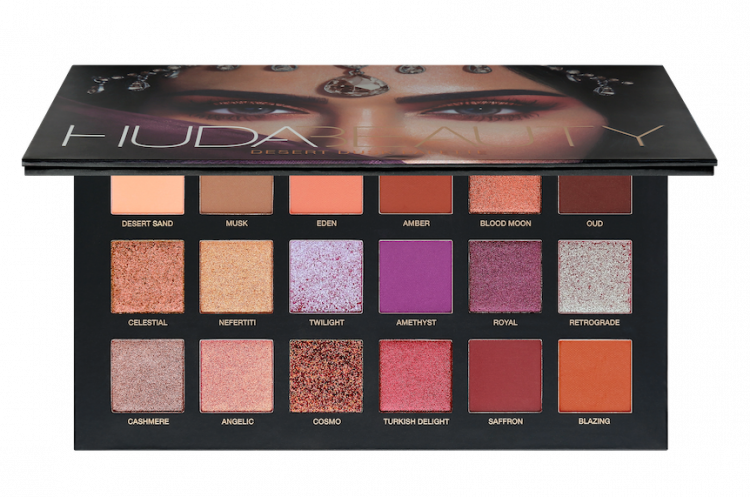 huda beauty deset dusk eyeshadow palette