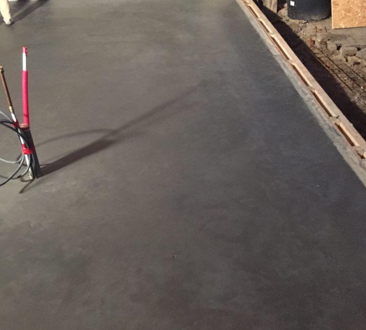 verbouwing betonvloer gevlinderd