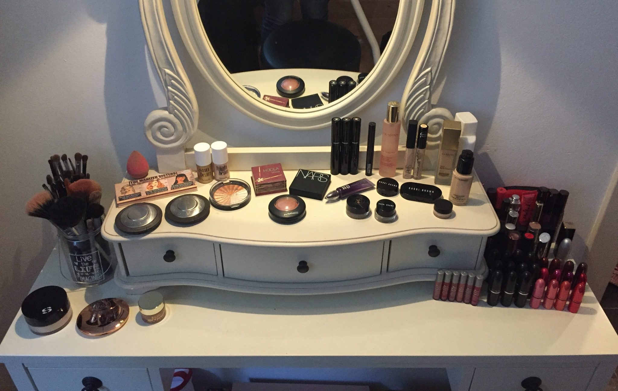 makeup tafel kaptafel beauty makeup