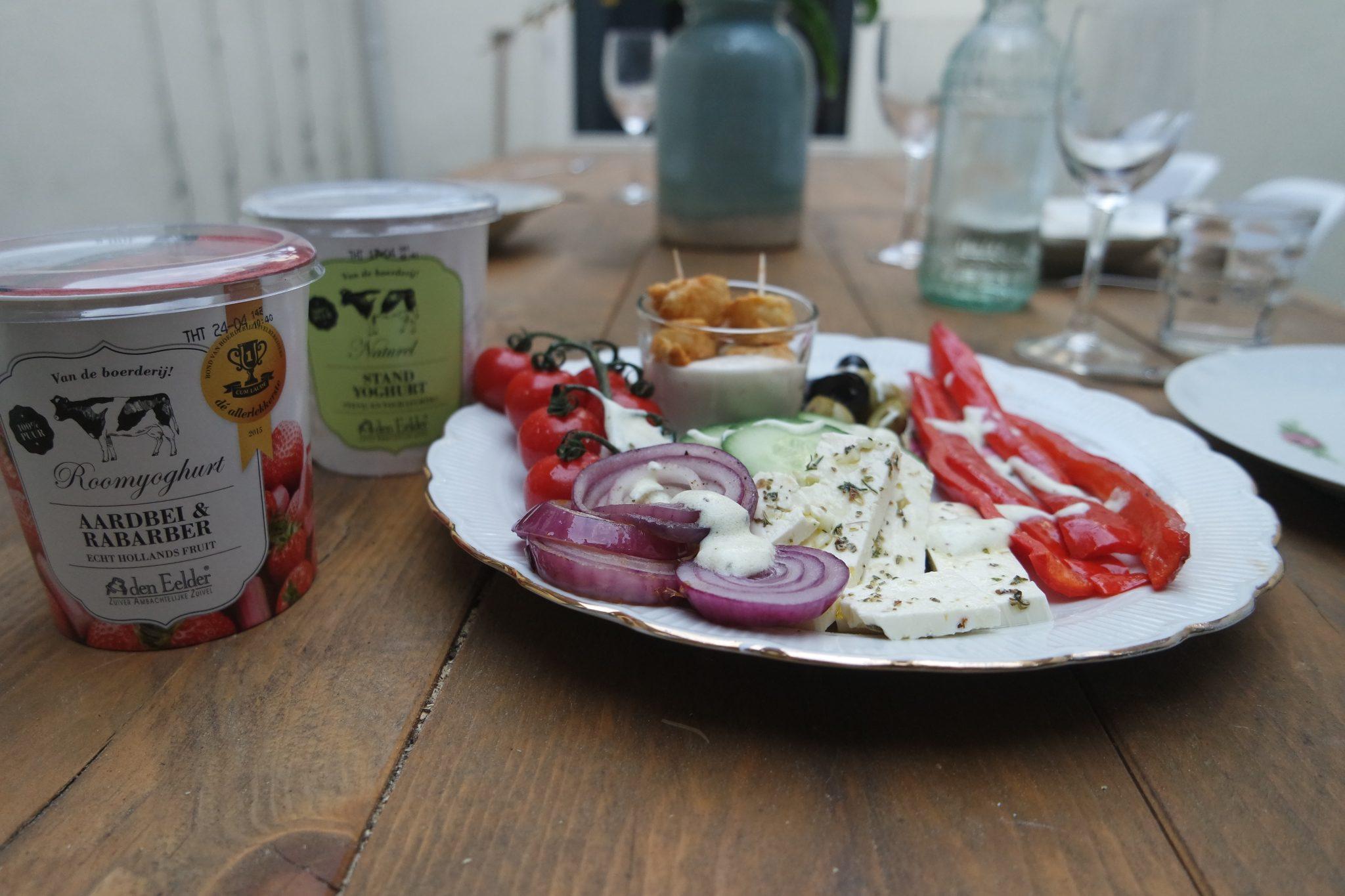 den eelder maaltijd salade grieks stand yoghurt