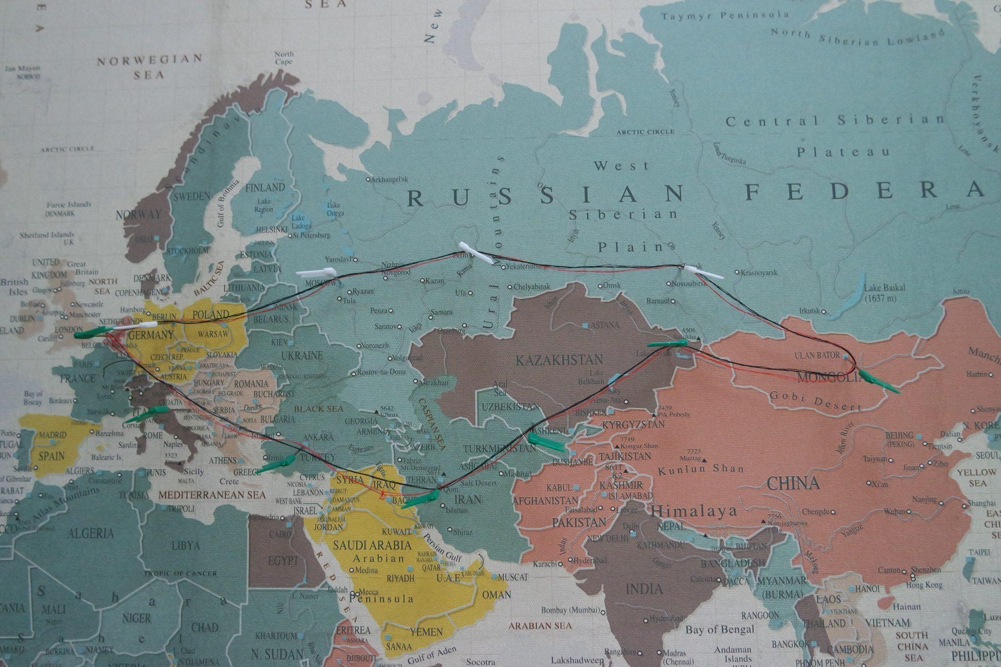 wereldkaart mongolia charity ralley