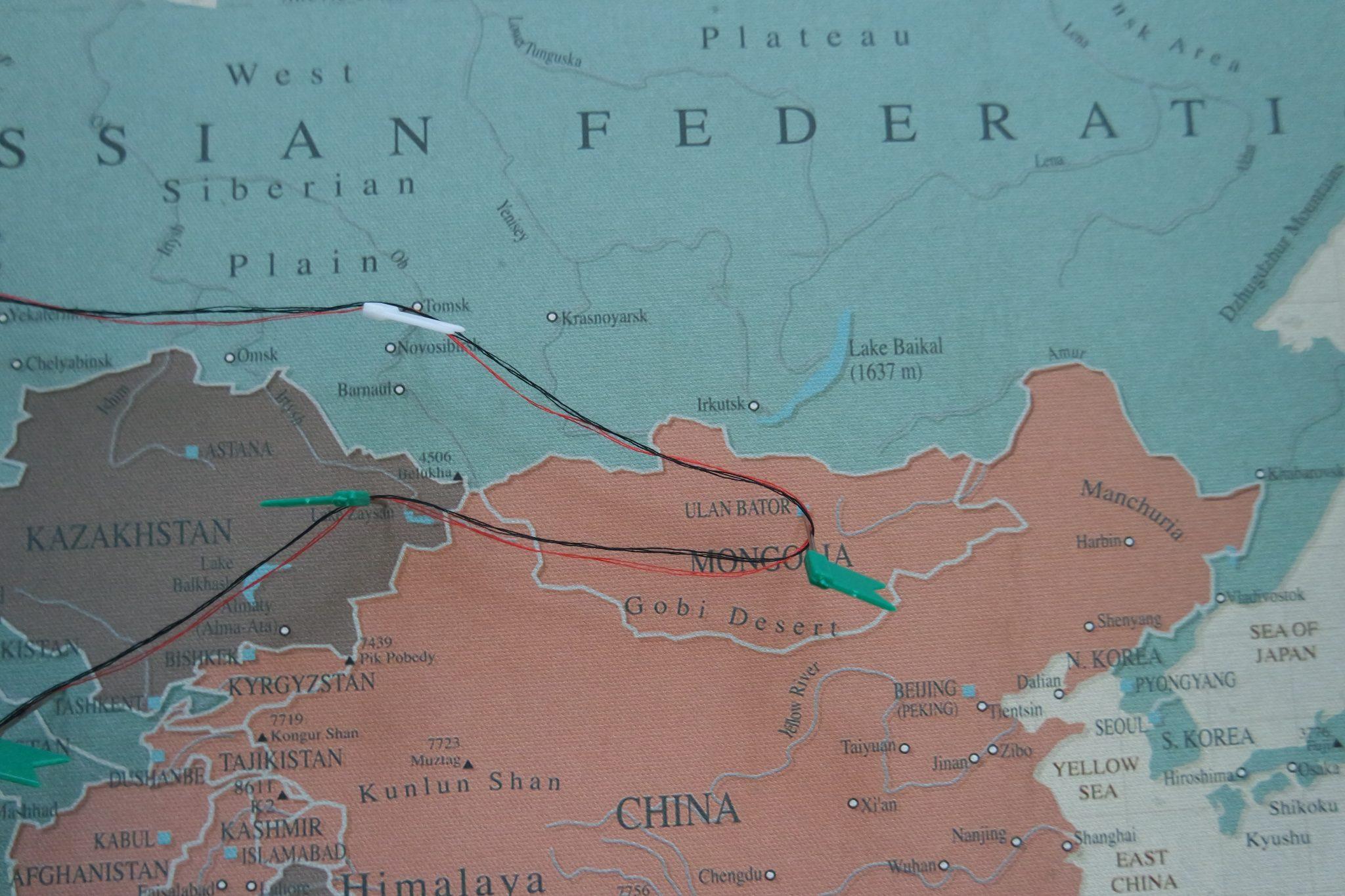 wereldkaart mongolia