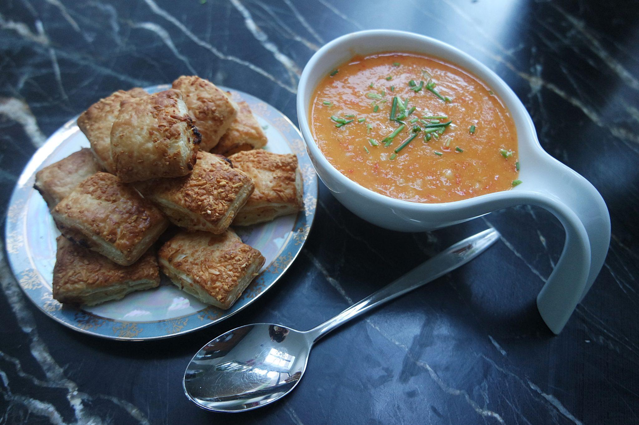 paprika couscous soep vegetarisch